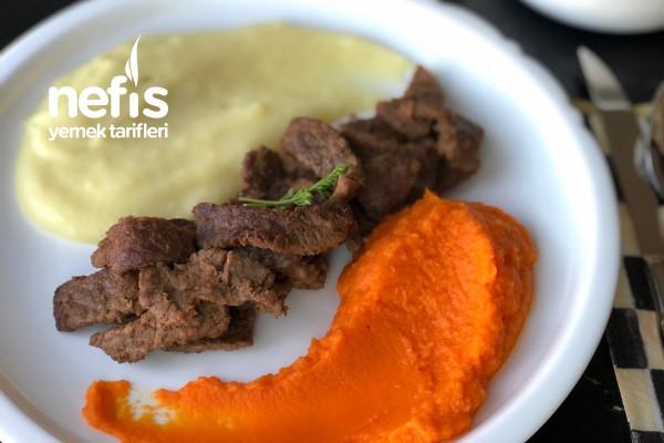 Nefis Havuç Patates Püreli Biftek Tarifi
