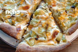 Pizza Tadında Pırasalı Kiş Tarifi