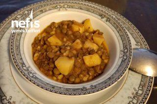 Patatesli Yeşil Mercimek Yemeği Tarifi