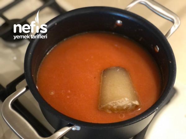 Sarımsaklı Nefis Domates Çorbası (Konserve İle)