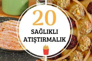 Sağlıklı Atıştırmalıklar: Düşük Kalorili Pratik 20 Diyet Tarif Tarifi