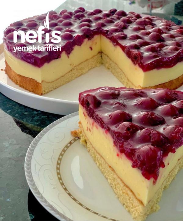 Sofranızdan Hiç Eksik Olmayacak Olan Vişneli Pudingli Pasta- Kirsch Schmand Torte