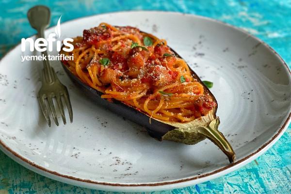 Patlıcanlı Spaghetti (Videolu) Tarifi