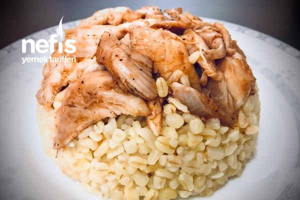 Sarımsaklı Tavuklu Bulgur Pilavı (Adıyaman) Tarifi