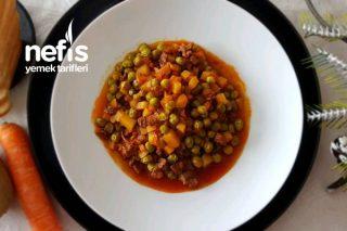 Etli Bezelye Yemeği-Buzlukta Saklanan Bezelye Nasıl Pişirilir? (Videolu) Tarifi