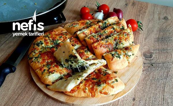 Dominos Tarzı Sarımsaklı Ekmeksipariş vermeyin evde kolayca yapın (Videolu)