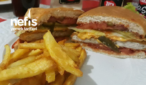 Disarida Satilana Tas Cikaran Tavuk Burger Tarifi