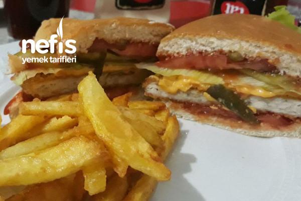 Dışarıda Satılana Taş Çıkaran Tavuk Burger Tarifi