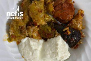 Kuru Biber Ve Patlıcanlı Lahana Dolması Tarifi