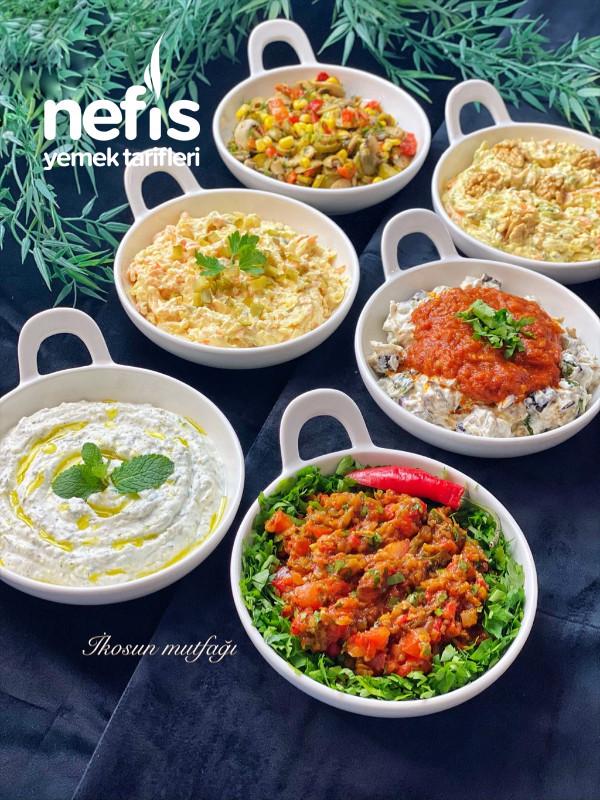 6 Çeşit Meze/Salata