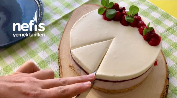Frambuazlı Cheesecake Yumurtasız Ve Fırınsız / Asmr Videolu