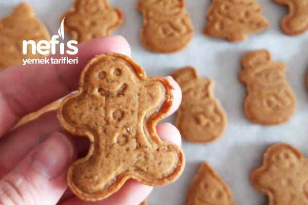 Gingerbread Kurabiyeleri Zencefilli Kurabiye (Videolu)