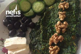Kahvaltılık İki Malzeme İle Börek Tadında Ispanak Omlet Tarifi