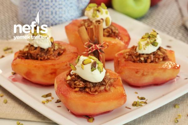 Gıda Boyasız Elma Dolgulu Ayva Tatlısı (videolu)