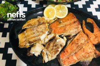 Tavada Mezgit Fileto Ve Somon Balığı (Dondurulmuş) Tarifi