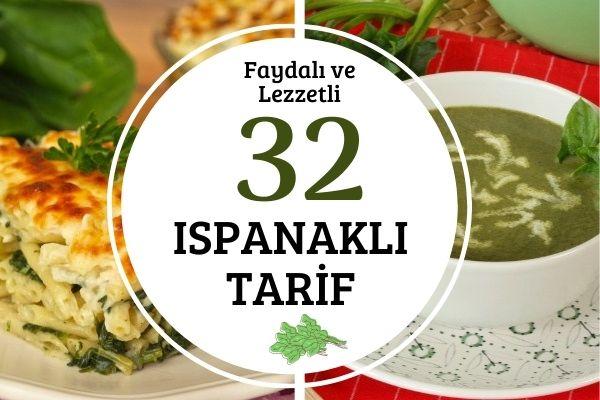 Ispanaklı Tarifler: Tamamı Denenmiş 32 Nefis Öneri Tarifi