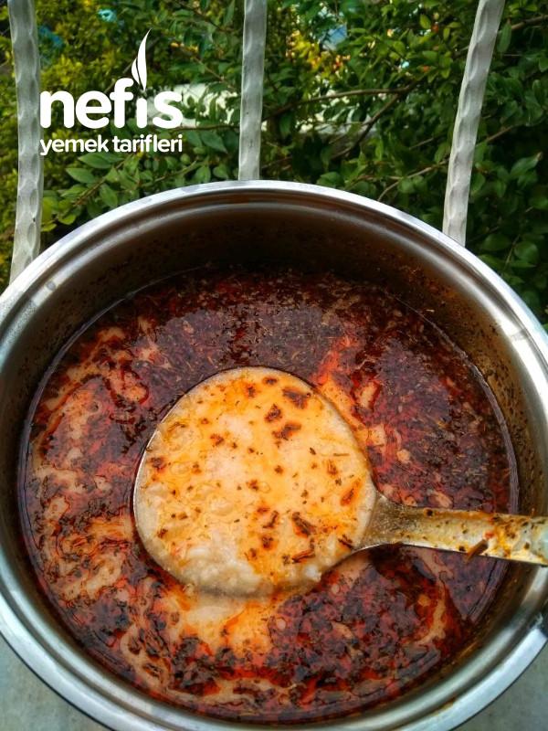 Kekikli Salçalı Yayla Çorbası (Yumurtasız)