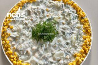 Tavuklu Hardallı Patates Salatası Tarifi