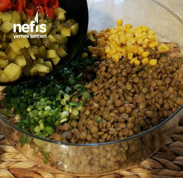 Bol Proteinli Mercimek Salatası