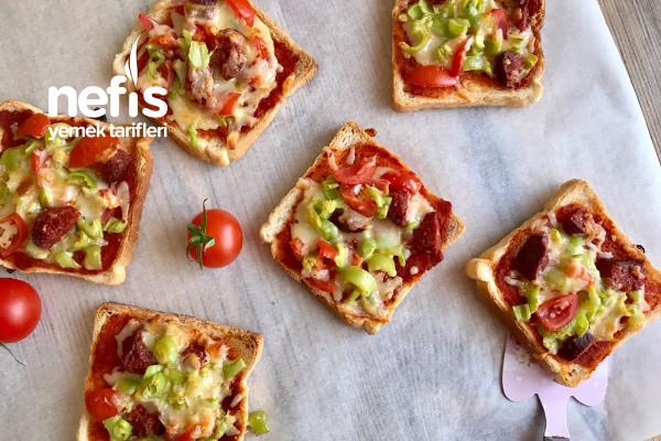 Kahvaltılık Pizza Dilimleri Tarifi