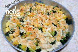 Patatesli Brokoli Karnabahar Graten (Çocuklar Bile Bayılacak) Tarifi