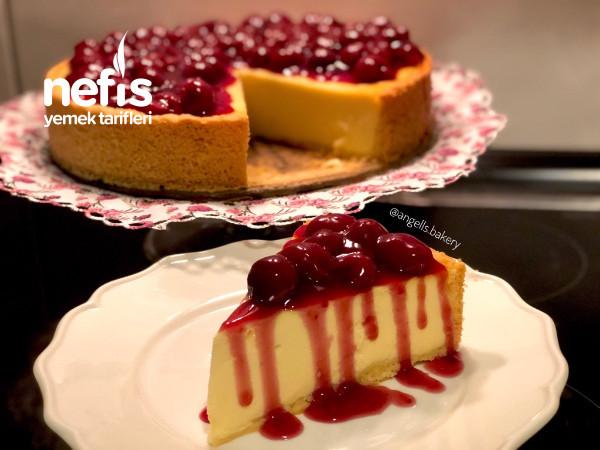 Vişneli Alman Usulü Cheesecake (Käsekuchen) Videolu