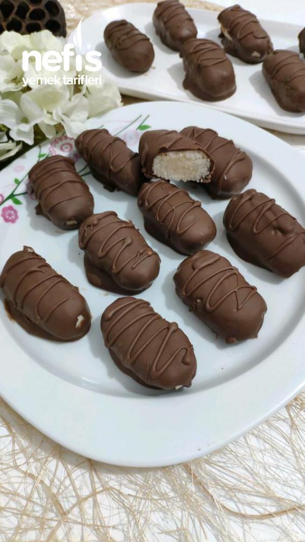 Ballı Kaymaklı Sağlıklı Cocostar Çikolata Tarifi (Videolu Tarif)