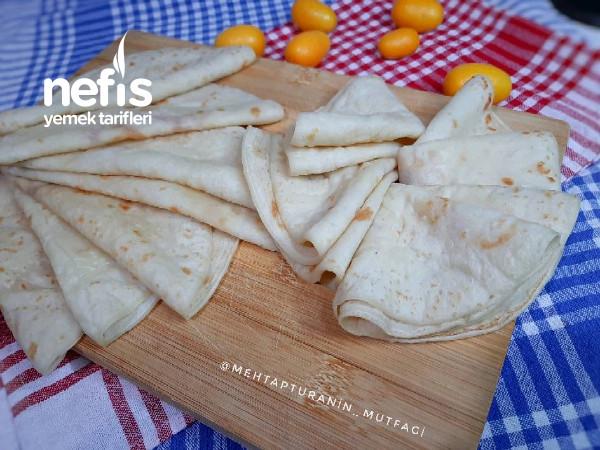 Oklava Merdane Kullanmadan Tortilla Krep Ekmekler