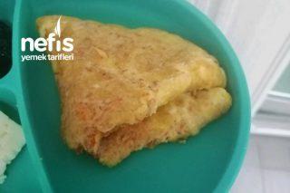 +1 Yaş Bebeklere Tarhanalı Peynirli Omlet Tarifi