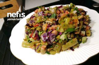 Konserve Fasulye Salatası Tarifi