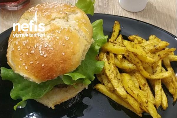 Chees Burger Ve Çıtır Patates Tarifi