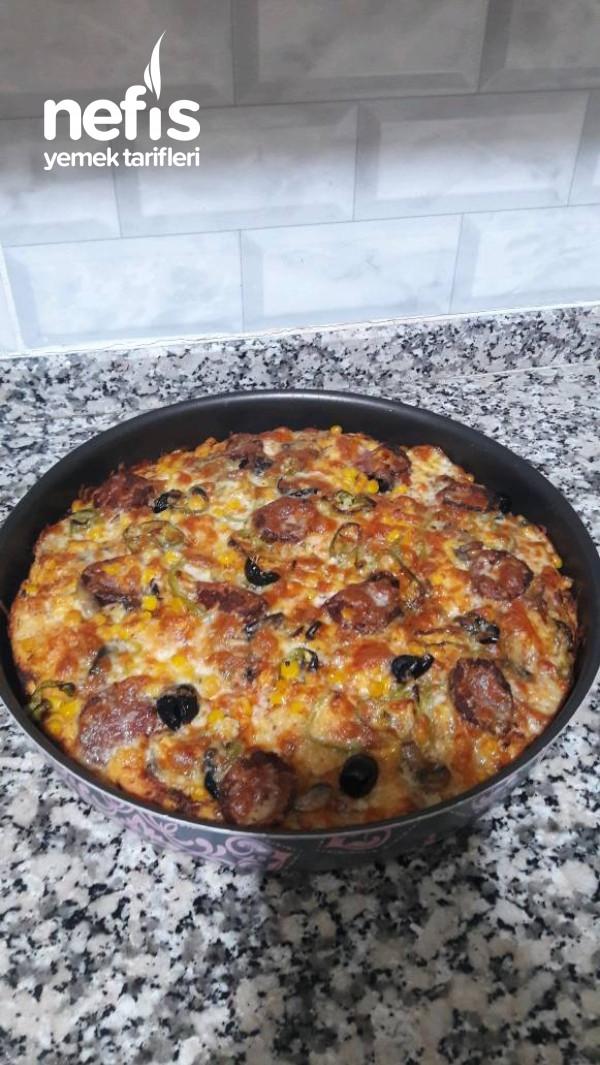 Mayalı Hamur İle Pizza