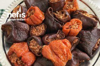 Kuru Patlıcan Dolması (Zeytinyağlı) Tarifi