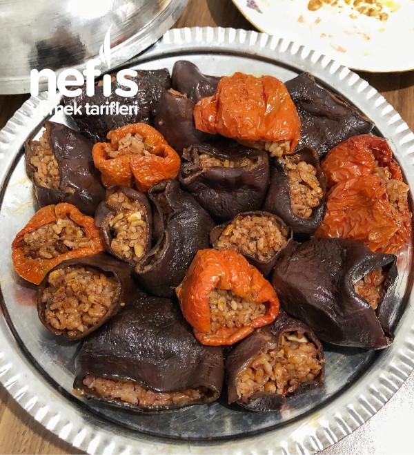 Kuru Patlıcan Dolması (Zeytinyağlı)