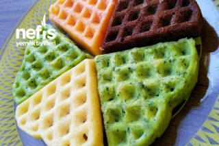 Renkli Krepler ( Çikolatalı, Ispanaklı Ve Domatesli ) Tarifi
