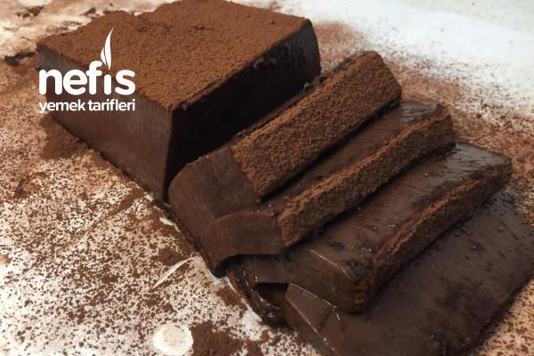 Sadece 2 Malzemeli Çikolata Dilimleri (Videolu)