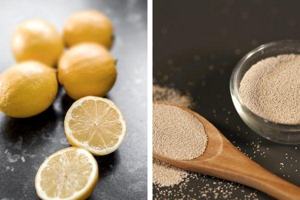limon kuru maya maskesi