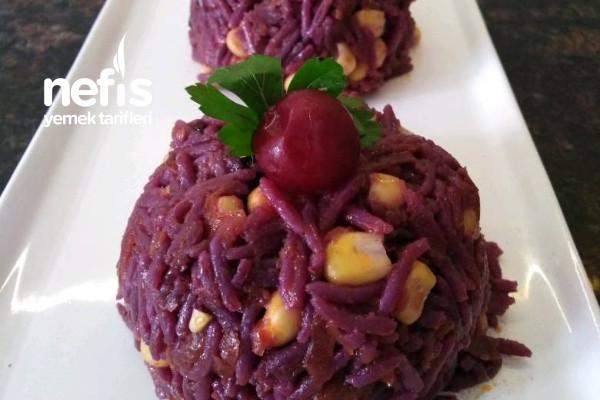 Mor Havuçlu Pirinç Salatası