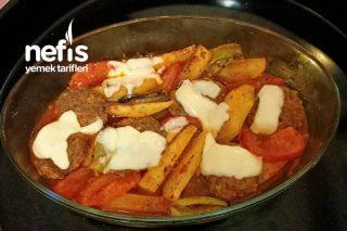 Fırında Müthiş Lezzet Kaşarlı Köfte Patates Tarifi