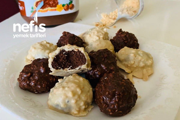 Fırınsız Çikolatalı Atıştırmalık Toplar Tarifi