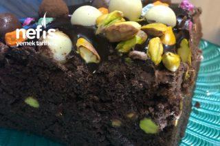 Çikolata Fıstıklı Yaş Pasta ( Çok Kolay ) Tarifi