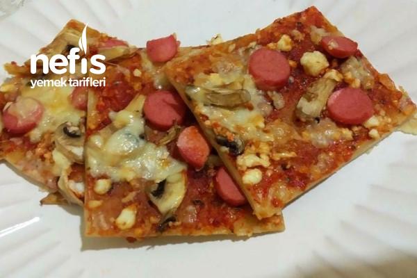 Kaşarlı Mantarlı Pide (Pizza Tadında)