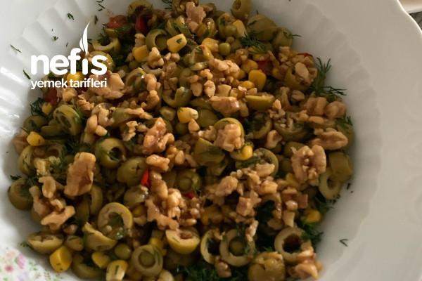 Kahvaltılık Zeytin Salatası Tarifi