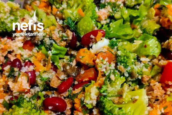 Meksika Fasulyeli Sebze Salatası Tarifi