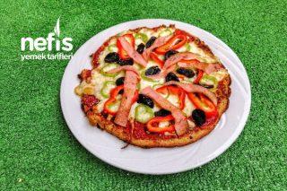 Diyet Pizza (Mercimek Krep Tabanlı) Tarifi