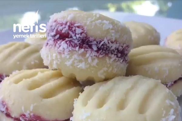 Reçelli Pastane Kurabiyesi (Videolu) Tarifi