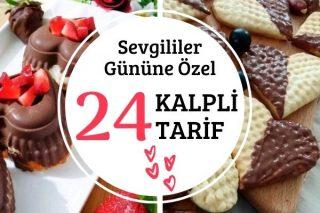 Sevgililer Gününe Özel 24 Kalpli Tarif Tarifi