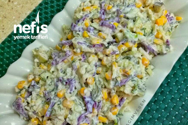 Yoğurtlu Karışık Lahana Salatası (Efsane Lezzet) Tarifi