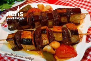 Çöp Şişte Patlıcan Kebabı Çok Pratik (Videolu) Tarifi