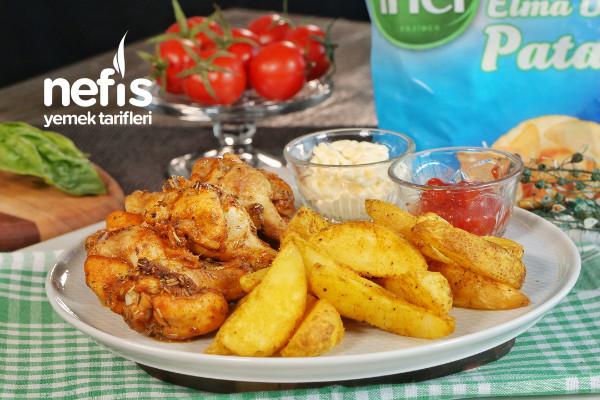 Fırında Tavuk Kanat ve Patates Tarifi